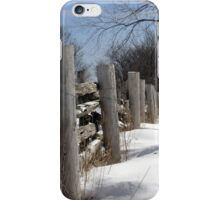 Wooden Fence. Christmas. New Year. iPhone Case/Skin