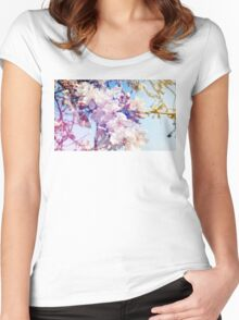 Cherry flowers Women's Fitted Scoop T-Shirt
