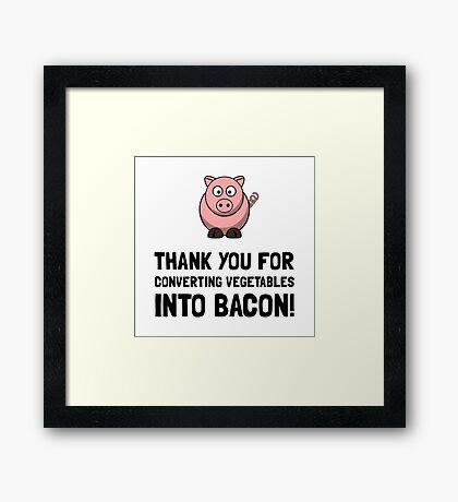 Vegetables Bacon Framed Print