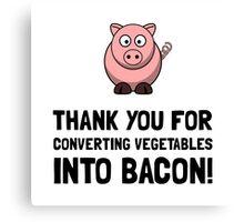 Vegetables Bacon Canvas Print