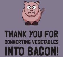 Vegetables Bacon Kids Tee