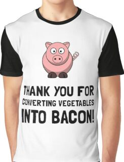 Vegetables Bacon Graphic T-Shirt