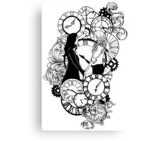 Time Led Me To You (Line Art Version) Canvas Print