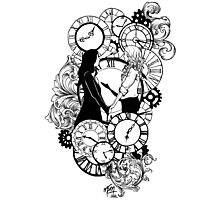 Time Led Me To You (Line Art Version) Photographic Print