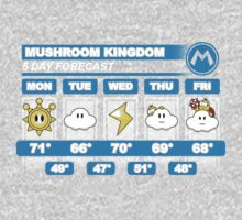Mushroom Kingdom 5 Day Weather Forecast Kids Clothes