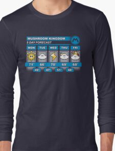 Mushroom Kingdom 5 Day Weather Forecast Long Sleeve T-Shirt