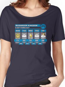 Mushroom Kingdom 5 Day Weather Forecast Women's Relaxed Fit T-Shirt
