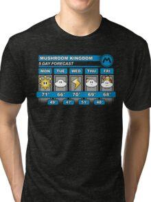 Mushroom Kingdom 5 Day Weather Forecast Tri-blend T-Shirt