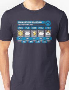 Mushroom Kingdom 5 Day Weather Forecast Unisex T-Shirt