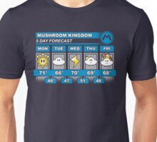 Mushroom Kingdom 5 Day Weather Forecast Unisex T-Shirt