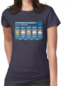 Mushroom Kingdom 5 Day Weather Forecast Womens Fitted T-Shirt