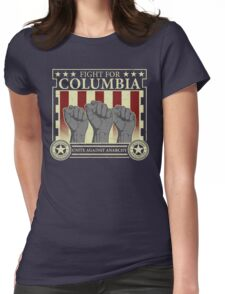Fight for Columbia Womens Fitted T-Shirt