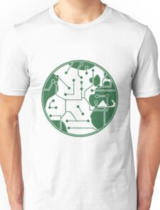 earth technology networked data information electronically future technology future planet Unisex T-Shirt