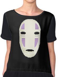No Face in pixel art Chiffon Top