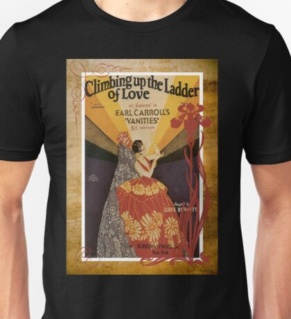 Climbing Ladder Of Love Sheet Music Flamenco Unisex T-Shirt