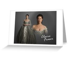 Outlander Wedding/Claire Fraser Greeting Card
