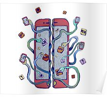 Handsy Phone by Maisie Cross Poster