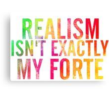 Realism Canvas Print