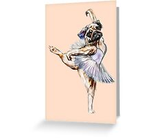 Pug Ballerina Colorful Greeting Card