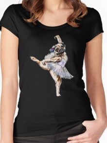 Pug Ballerina Colorful Women's Fitted Scoop T-Shirt