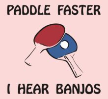 Paddle Faster Ping Pong Baby Tee