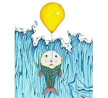 Fish Escapes Ocean by Balloon Photographic Print