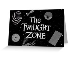 The Twilight Zone Symbols Greeting Card