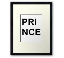 "Poster ""Prince"" Framed Print"