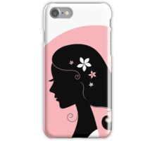 Romance girl shape for Wedding or Valentine iPhone Case/Skin