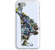 Abstract Map of Martha's Vineyard iPhone Case/Skin