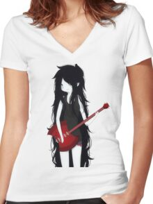 Marceline The Vampire Queen ❤️ Women's Fitted V-Neck T-Shirt