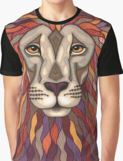 Psychedelic Lion Graphic T-Shirt