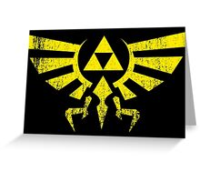 Worn Hylian Crest Greeting Card