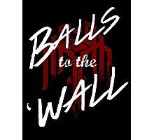 Balls to the (Kirk)Wall Photographic Print