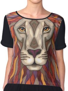 Psychedelic Lion Chiffon Top