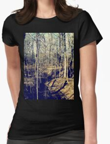 Fall Forest Womens Fitted T-Shirt