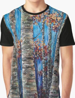 Aspen forest in the Rocky Mountains (Palette Knife) Graphic T-Shirt
