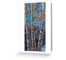 Aspen forest in the Rocky Mountains (Palette Knife) Greeting Card