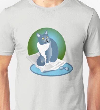 Jack Cat Reads The News Tee Unisex T-Shirt
