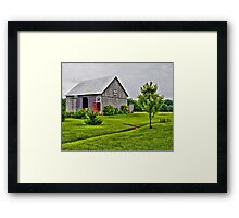 Barn with the Red Door Framed Print