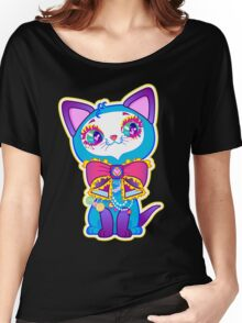 Kawaii and cute Blue Crystal Kitty  Women's Relaxed Fit T-Shirt