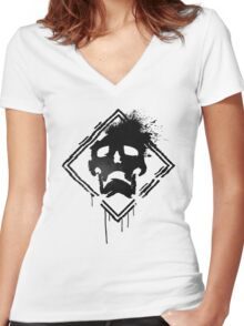 DESTROY  Women's Fitted V-Neck T-Shirt