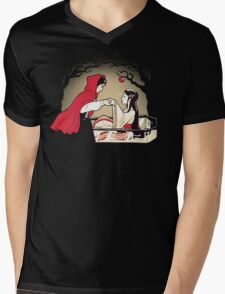 Red Riding Hood and Snow White Mens V-Neck T-Shirt