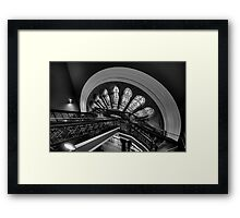 Staircase Addiction - Queen Victoria Building (Monochrome), Sydney - The HDR Experience Framed Print