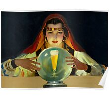 Vintage beer ad art roma gypsy Poster