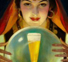 Vintage beer ad art roma gypsy Sticker