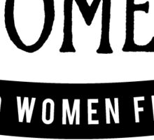 Women and Women First Bookstore Sticker