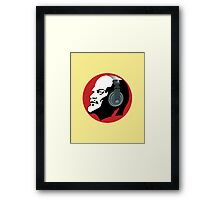 Lenin with Headphones (Yellow and Red) Framed Print