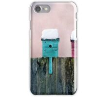 Snow on the Roofs at Sunrise iPhone Case/Skin