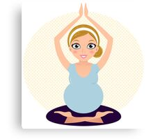 Pregnant woman in Yoga pose Canvas Print